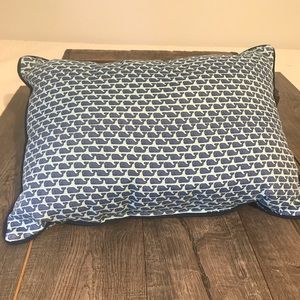 Vineyard Vines Lumbar Pillow with Whales